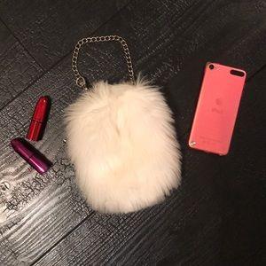 Handbags - Adorable Fuzzy wristlet